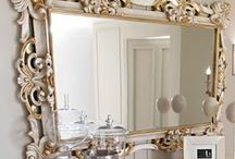 Mirrors / Mirrors - they came in all shapes and sizes. Every room should have one!