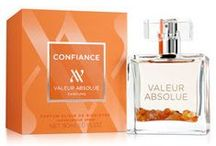 Confiance (Valeur Absolue) / This new well-being elixir brings that special self-confidence and posie to women, to make them not only irresistible, but also naturally beautiful, open-herated, warm and genereous.  Vanilla is at the heart of this new nectar with clove, cinnamon, candied peach and amber.  The final touch is base notes of cedarwood and Siam benzoin.