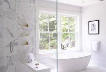 Bathroom inspo / Modern Neutral toned with hints of black bathroom ideas