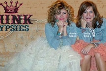 Junk Gypsies / Janie, Amie and Jolie Sykes have a wonderful time roaming the Texas countryside finding old treasures to repurpose and decorate with ~ True genius Junk Gypsies! / by Willow ~