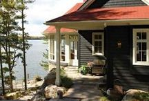 Cabin by the Lake / Ideas and decor for relaxed living at the cabin by the lake ~ outdoors, boating, swimming, fishing & much more!