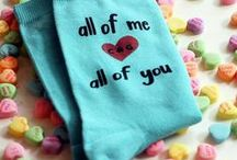 Valentine's Socks / Sweet socks for your sweetheart!  Perfect for Valentine's Day or any time love is in the air!