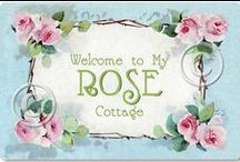 Rose Cottage / Wonderful, shabby and chic decorating ideas.