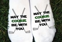 Golf Socks / Custom printed and personalized golf socks by the pair! Our unique, patented printing process provides incredible detail not found on golf socks anywhere. Sockprints make great gifts for your favorite golfer. Ask about bulk discounts for golf tournament tee gifts.