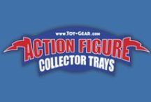 Action Figure Collector Trays / Show your Action figures some love, display, store, organize and protect them! Action Figure Display Storage Collecting Toys