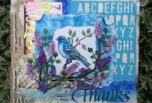 Creations with bird stamps by Bianca Gallery