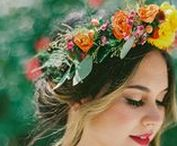 Flower Crowns & Halos / Beautiful bridal flower crowns for Brides, Bridesmaids & flowergirls