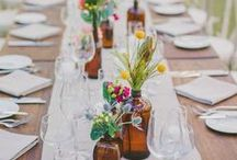 Rustic Weddings / A selections of rustic ideas for table decoration, bridal bouquets, centerpieces, wedding cakes etc