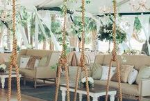 Hanging decoration ideas / Suspended flowers for a WOW wedding decor
