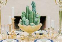 Cactus Weddings / Using cactus for wedding table decoration, invitations, bouquets, favors, centerpieces, etc
