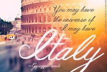 "Mia Bellissima Italia / Those that know me know there is no greater love for a country than mine for ""la mia bella Italia"" .... It's not only in my blood because of my ancestors, it's simply in my heart. / by Yolie Quintero Rivera"