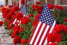 Patriotic Red, White & Blue★ / americana, red, white, blue, patriotic, 4th of july, holidays, memorial day, flags