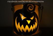 Mystical Enchantment's Halloween & Autumn ☠☪ / MYSTICALENCHANTMENTS@HOTMAIL.COM   primitive Halloween, Primitive Christmas, halloween lanterns, halloween props potion bottles, witch potion bottles, country christmas, nautical gifts,message in bottle, birds nests, cloches, skulls, jar of skulls, dia de los muertos, / by †☠Mystical Enchantments☠†