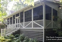 Porches, patios and garden spots / Front porches, side entries, screened porches and patios. Garden rooms and nooks Such fun places to decorate. / by Julie Steele