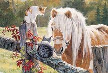3 Unicorns/horses