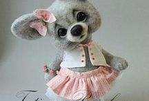 Felted and Stuffed Animals / felted animals, needle felted, stuffed animals, bears  / by †☠Mystical Enchantments☠†