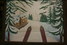 Winter Outdoors / Winter outdoor seating, garden furniture, Winter carvings, Snow Seating, Lake Furniture