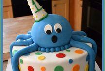 Ollie's first birthday / Ollie octopus under the sea