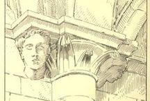 Готическая архитектура / Иллюстрации из книг о архитектуре средневековья