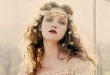 Bohemian Bride / #Bohemian #Boho #Hippie #70's #Gypsy #Garden #Rustic #Lace #Flower-crowns #outdoor #wedding, #Dresses, Hair, Veils, Make-up, Nails, Shoes, Bouquets, Bridesmaids, flower-girls,  / by Muse of Your Dreams