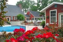 Saltbox Inn Amenities / The Saltbox Inn is located in a quiet country setting. Amenities include a large pool, patios, arbor, pavilion, flower gardens, spacious lawns, and four suites for lodging.