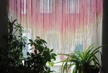 Decorar con flecos / Fringe string curtains / Ideas para #decorar con flecos / Fringe string curtains / #designing