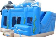 Ocean Themed Inflatable Bouncers / Splash around in our Ocean themed Bouncers!