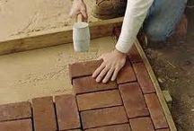 Brick Paths & Mosaic Pebble Ideas for Small Gardens