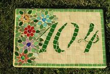House Numbers in Mosaic / Ideas for house numbers in Mosaic