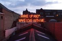 #SignsOfLife / #Neon #typography #words #art / by Muse of Your Dreams