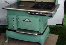 The Old Green Stove / And a few other items in my favorite apple green.  / by Sue Whalen