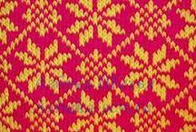 Вязание-паттерны / схемы паттернов разные, в том числе для перфокарт на 24 иглы