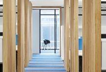 wnętrze biurowe - open space / strefa pracy