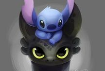 TOOTHLESS AND STITCH / MY TWO LITTLE FAVOURITE CREATURES