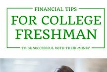 College Tip$ / How to save for college, what expenses to expect, tips to save you $$$ in college, and how to be smart with your money after college.