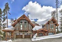 Lake Tahoe Ski Homes / Exceptional slopeside homes offered by SierraSothebysRealty.com #Ski #LakeTahoe #SkiHouse