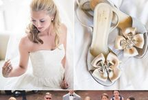 Wedding Concept / Rings, Gown, Suit, Decorations, Invitation I wish