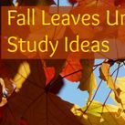 Fall Homeschooling / Books and activities for celebrating fall in your homeschool.