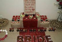 Bridal shower HENNA / DIY, bridal shower decoration, red theme / by Hend Kishawi