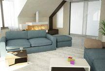 Коттедж в пос. Юбилейный / Дизайн интерьера коттеджа в пос. Юбилейный для большой семьи выполнен в современном эклектичном стиле. Мы предложили заказчику гостиную в 2-х стилистических варианта.