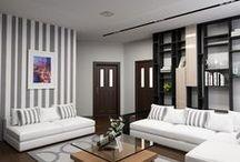 3к.кв. Дзержинского 7/11 / Дизайн проект 3х комнатной квартиры в новом доме по ул. Дзержинского 7/11 создавался для семьи из трёх человек в современном стиле.