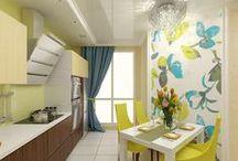 2к.кв. в ЖК Никольский Саратов / 2-х комнатная квартира в ЖК Никольский была переделана в 3-х комнатную квартиру для комфортного проживания семьи из 3-х человек. По желанию заказчика дизайн выполнен в современном стиле, в ярких цветах.