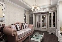 2к.кв. в ЖК Солнышко / Дизайн интерьера этой квартиры разрабатывался для молодой девушки, в стиле новой классики. Проект выполнен с подбором материала и авторским надзором.