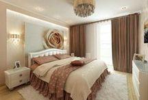 Спальня в персиковых оттенках / Готов интерьер спальни в персиковых оттенках. Микс современного стиля с элементами классики.  http://саратов-дизайн.рф/ ДизайнМастер 8-927-133-2827 (Дизайн и Ремонт квартир Саратов)