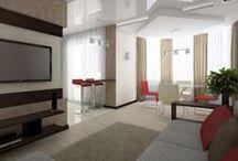 Дизайн интерьера 3х комнатной квартиры в ЖК Близнецы 2 / Дизайн интерьера 3х комнатной квартиры 84м в ЖК Близнецы 2 для семьи с девочками близняшками.