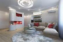 3к.кв. в ЖК Ямайка 104 кв.м. / Большая трехкомнатная квартира в ЖК «Ямайка», площадью 109 кв. метров, получилась очень стильной и концептуальной.   Белый — лидирующий цвет в отделке, в качестве контрастного же использованы красный и зеленый.  Сайт: http://саратов-дизайн.рф Группа: http://vk.com/designsaratov Телефон: 89271332827