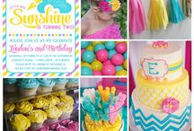 Party Inspiration: Sunshine Birthday / Bright sunny birthday wishes! / by One Swell Studio - Cara McGrady