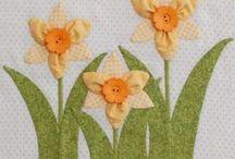цветы  / рукоделие цветов из ткани