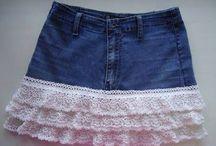 Old Denim - Tøj / Genbrug dine gamle cowboybukser til at lave nyt smart tøj...ingen andre har...!!!