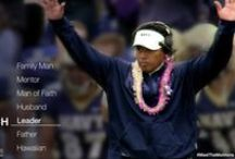 The Coach / As Head Football Coach of the U.S. Naval Academy in Annapolis, Maryland, Ken Niumatalolo balances the pressures of his high-stress job by putting his family and faith first. In the competitive, high-stakes world of college football, he made the shocking decision to cancel staff meetings on Sundays, traditionally seen as critical to the team's success, to instead honor the Sabbath day.